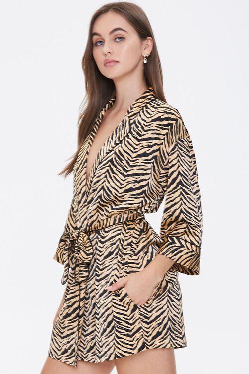 Satin Tiger Stripe Robe, image 2