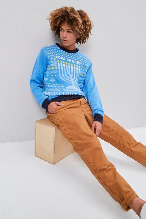 Menorah Intarsia Knit Sweater, image 4