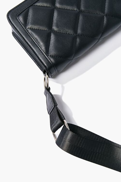Quilted Grosgrain-Strap Crossbody Bag, image 5