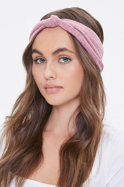 Heathered Knot-Top Headwrap, image 1