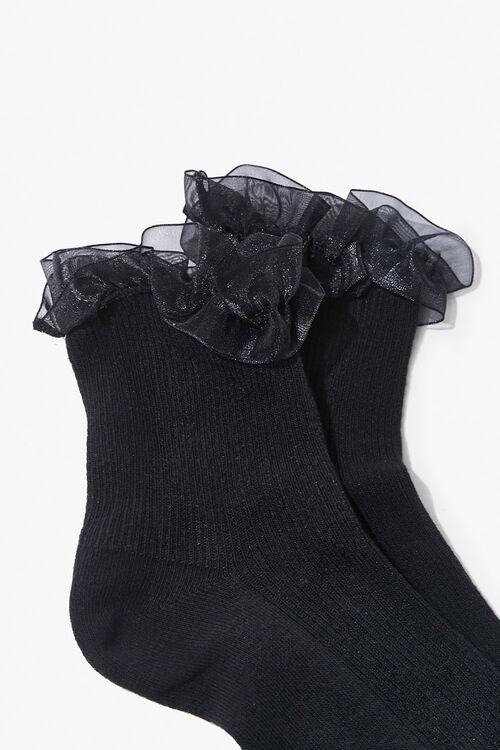 Ruffle-Trim Crew Socks, image 2