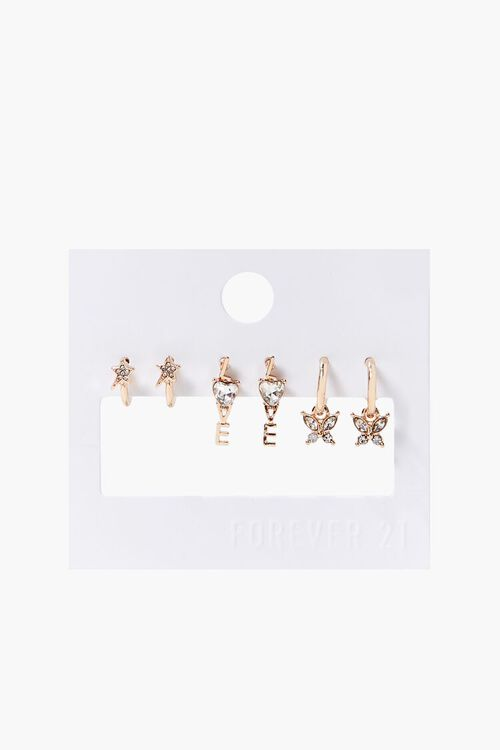 GOLD Love Charm Assorted Earring Set, image 2