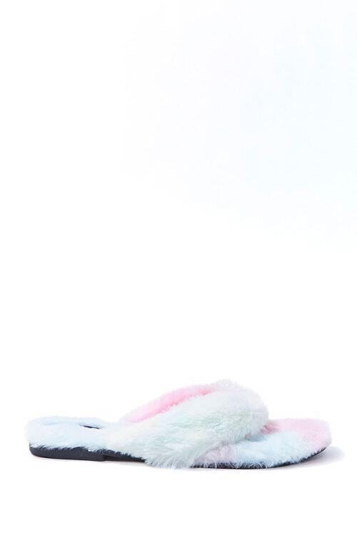 Cloud Wash Faux Fur Thong Sandals, image 1