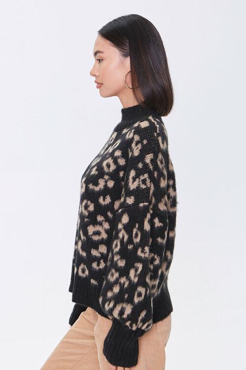 Fuzzy Leopard Print Sweater, image 2