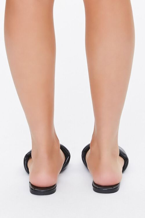BLACK Quilted Square-Toe Sandals, image 4