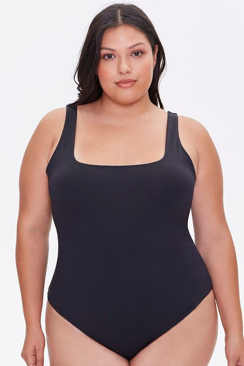 Plus Size Square-Neck Bodysuit, image 5