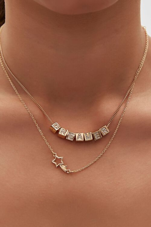 Dreamer Layered Chain Necklace, image 1