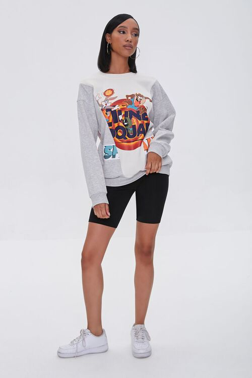 HEATHER GREY/MULTI Reworked Space Jam Pullover, image 4
