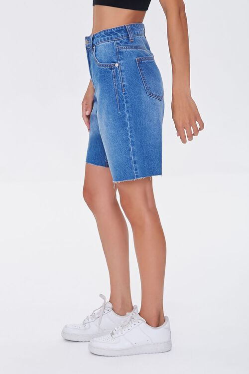 Raw-Cut Denim Bermuda Shorts, image 3