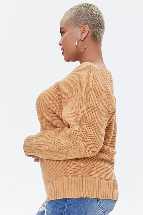 Plus Size Ribbed Knit Sweater, image 2