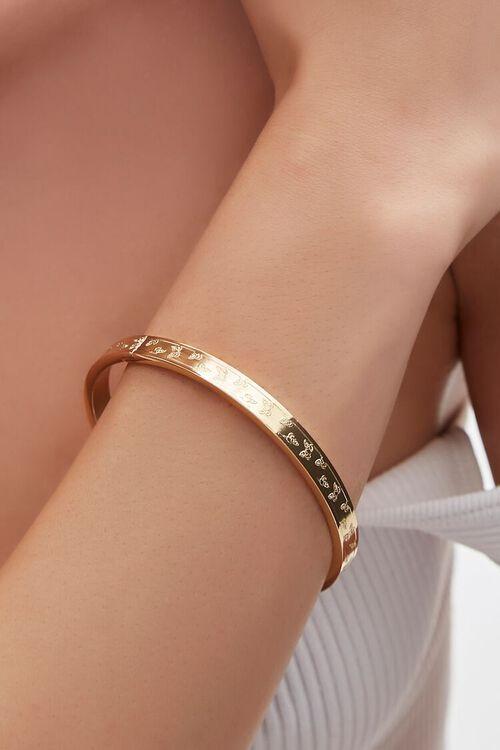 GOLD Butterfly Bangle Bracelet, image 1