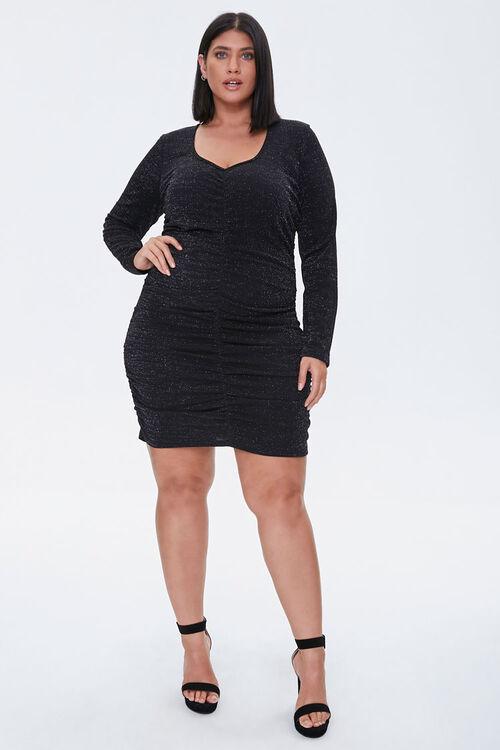 Plus Size Ruched Mini Dress, image 4