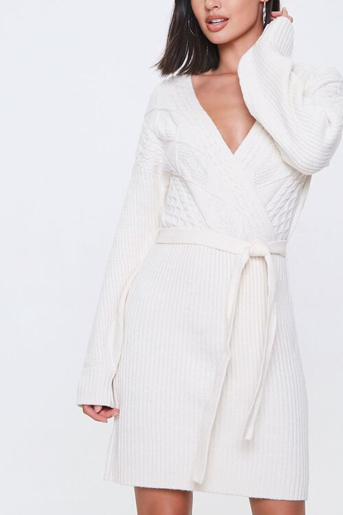 Cable Knit Wrap Dress, image 1
