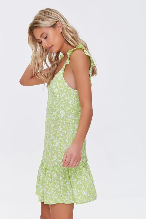 Floral Print Flounce Mini Dress, image 2