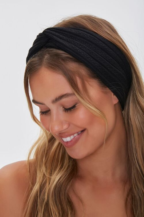 Knotted Pointelle Headwrap, image 1