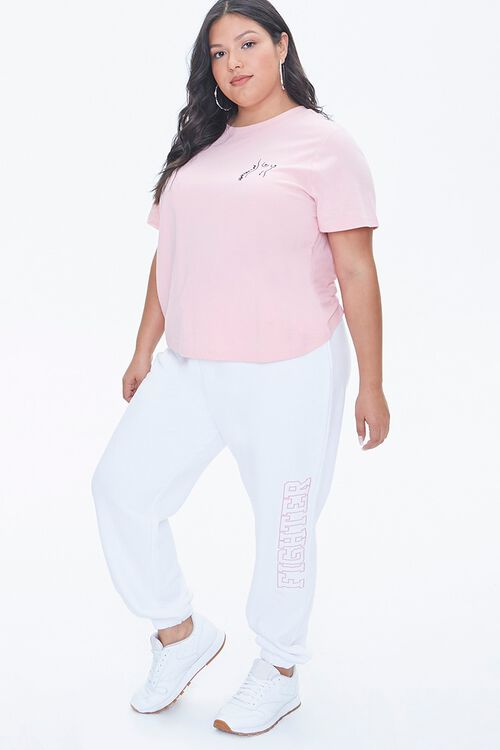 Plus Size Stand Up To Cancer Fighter Joggers, image 1