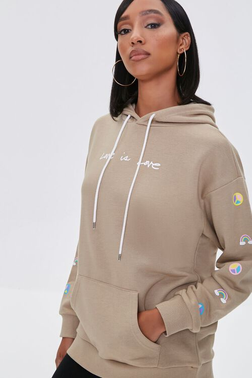 Love Embroidered Graphic Hoodie, image 1
