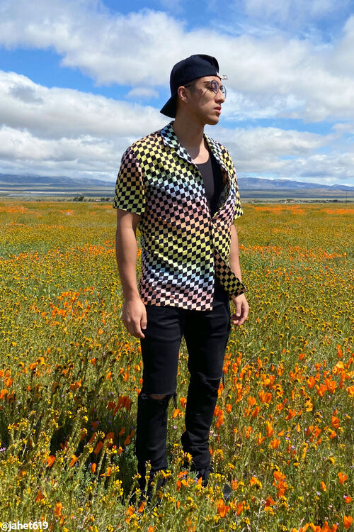 Ombre Checkered Print Shirt, image 1