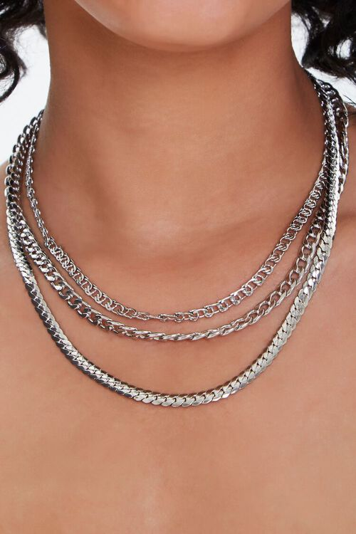 SILVER Chain Necklace Set, image 1