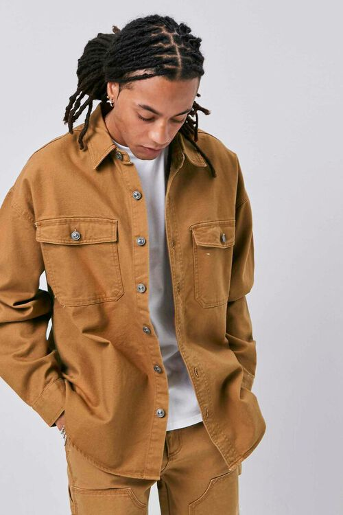 Buttoned Canvas Jacket, image 1