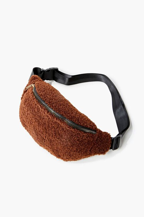 Faux Shearling Fanny Pack, image 1