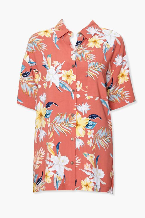 Tropical Floral Print Shirt, image 1