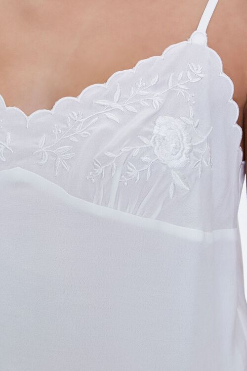 Embroidered Floral Cami, image 5