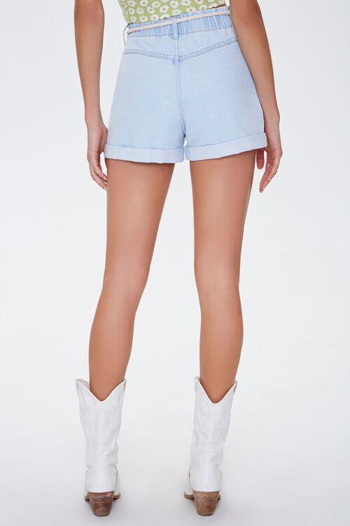 Rope Belt High-Rise Denim Shorts, image 4