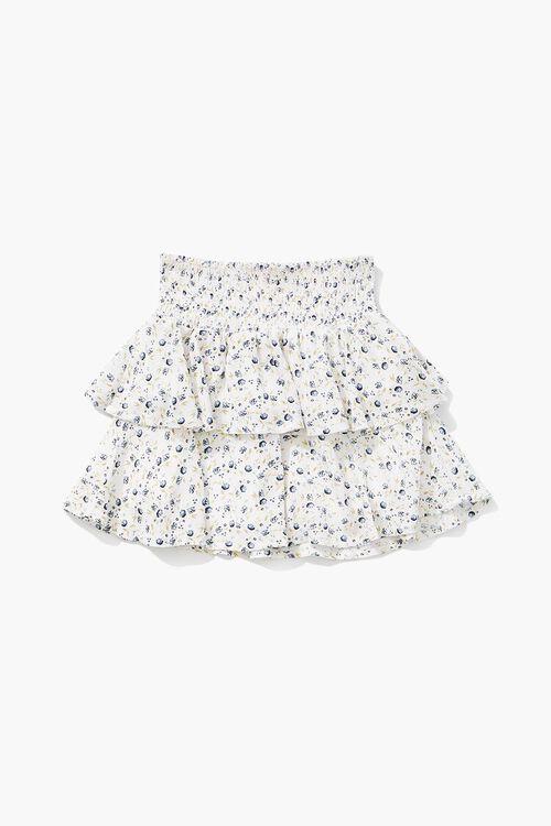 Girls Floral Print Flounce Skirt (Kids), image 2