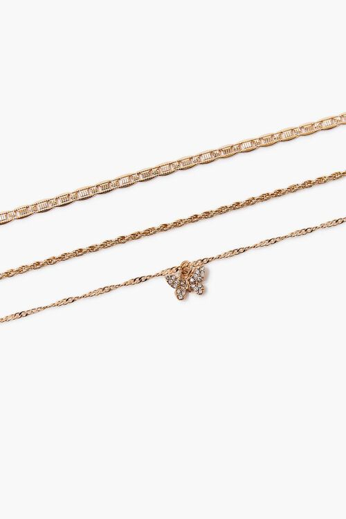 Butterfly Charm Chain Anklet Set, image 2