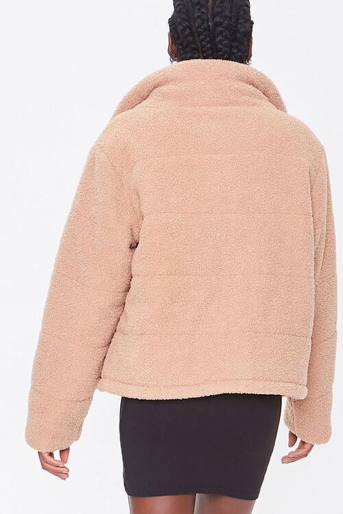Faux Shearling Zip-Up Coat, image 3