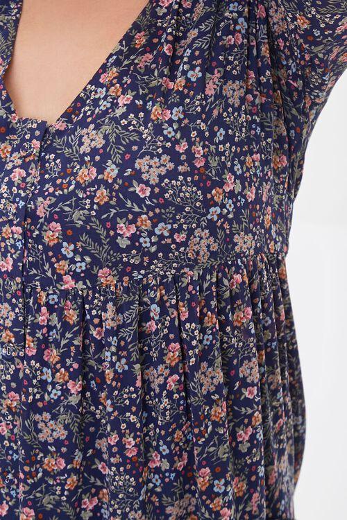 NAVY/MULTI Plus Size Chiffon Floral Maxi Dress, image 5