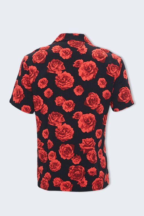 Rose Print Cuban Collar Shirt, image 2