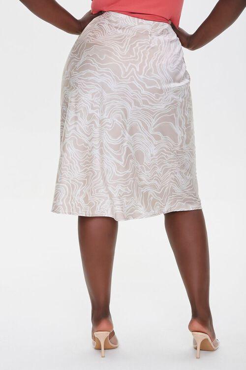 Plus Size Satin Line Art Skirt, image 4