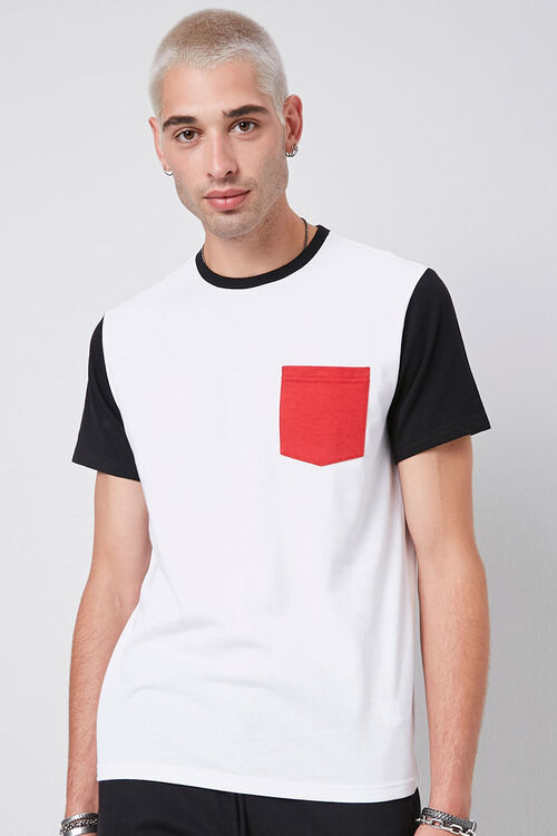 Colorblocked Cotton Tee, image 1