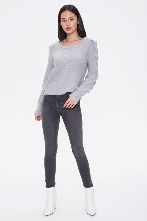 Lace-Up Sleeve Sweater, image 4