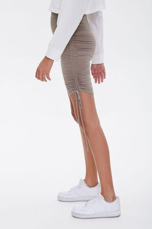 Ruched Drawstring Biker Shorts, image 3