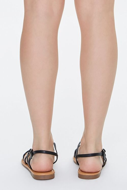 Strappy Faux Leather Sandals, image 3