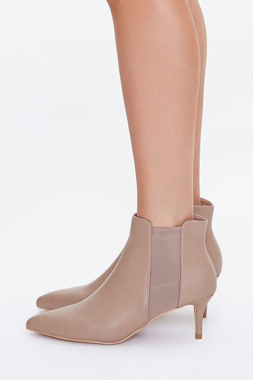 Faux Leather Stiletto Chelsea Boots, image 2