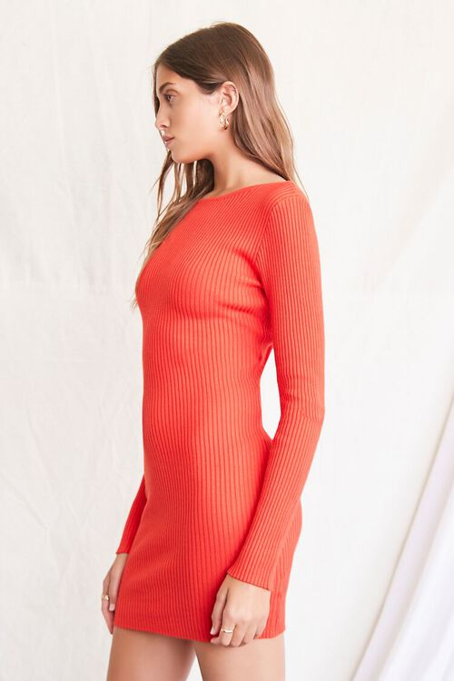 RED Twisted-Back Sweater Dress, image 3