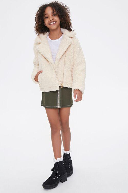 Girls Faux Shearling Jacket (Kids), image 4