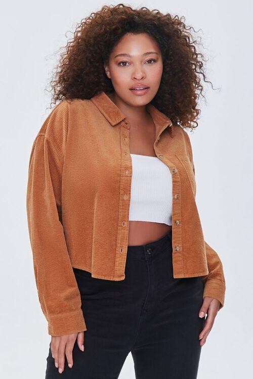 Plus Size Corduroy Shirt, image 1