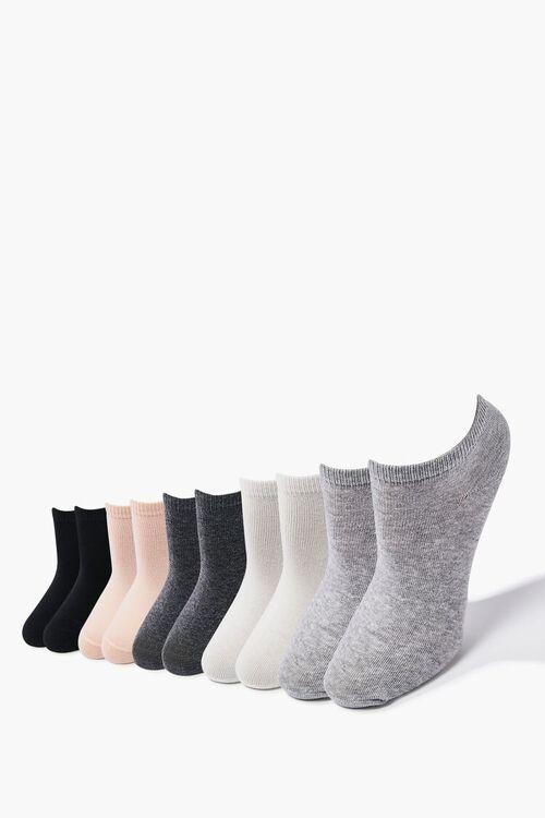 BLACK/PEACH  Assorted Ankle Socks - 5 Pack, image 1