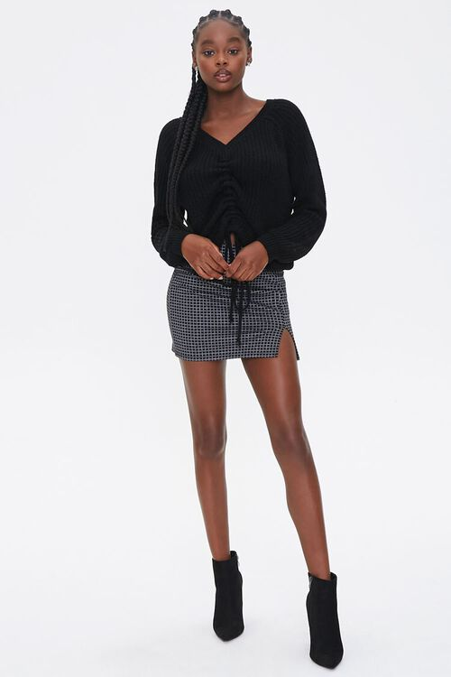 Ruched Drawstring Sweater, image 4