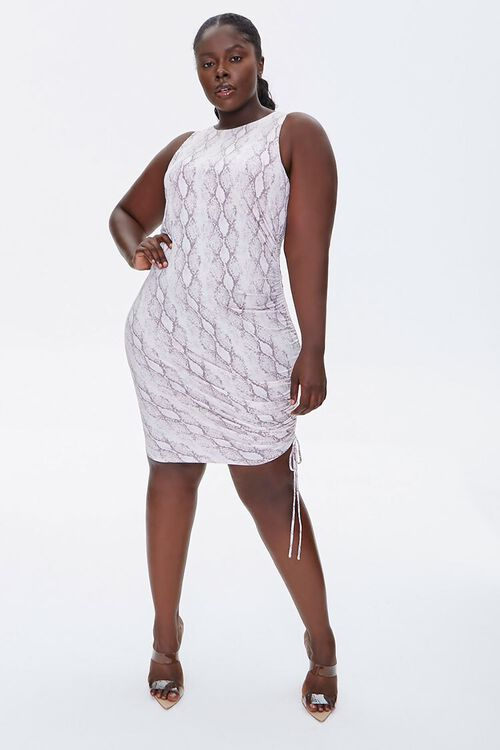 Plus Size Snake Print Dress, image 4