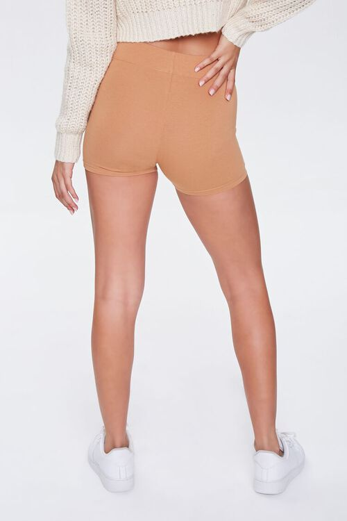 Basic Cotton-Blend Biker Shorts, image 4