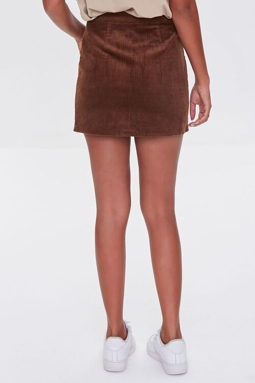 BROWN Corduroy Zip-Front Mini Skirt, image 4