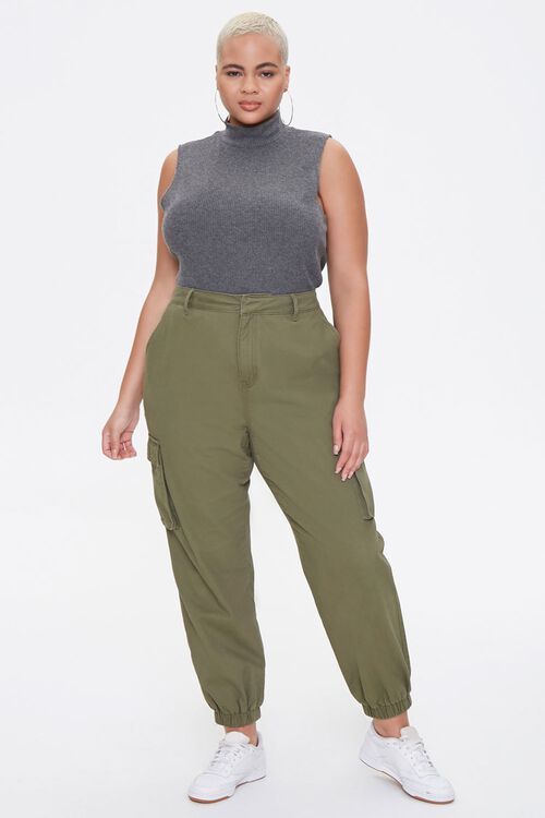 Plus Size Mock Neck Crop Top, image 4