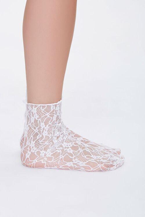 Sheer Mesh Crew Socks, image 2