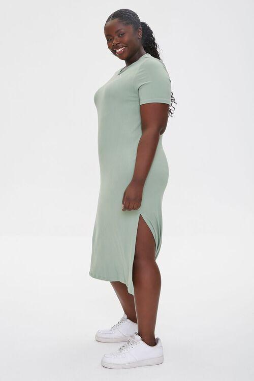Plus Size Midi T-Shirt Dress, image 2